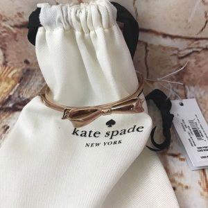 Kate Spade Large Bow Rose Gold Bangle Bracelet